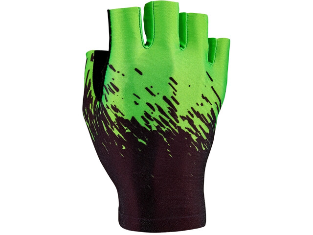 Supacaz SupaG Guanti mezze dita, black/neon green